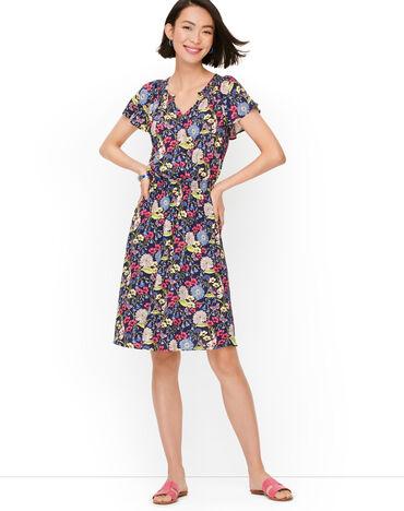 Smocked Fit & Flare Dress