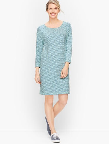 Slub Wavy Stripe Dress
