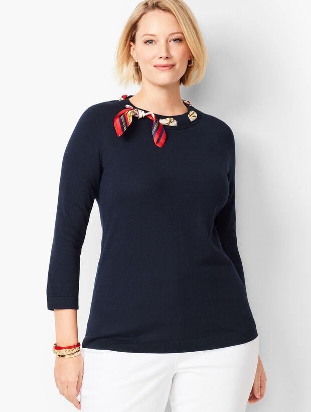 Silk Scarf Sweater