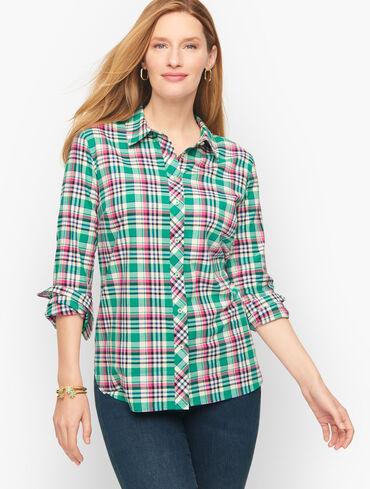 Button Front Shirt - City Plaid