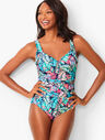 Miraclesuit(R) Amici One-Piece - Breezy Palm Print