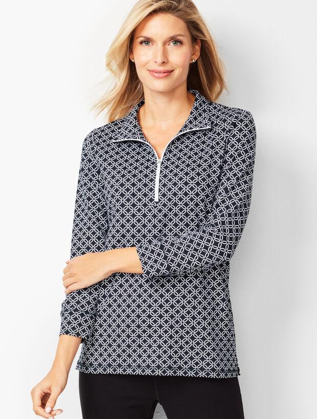 Geo-Print Half-Zip Pullover