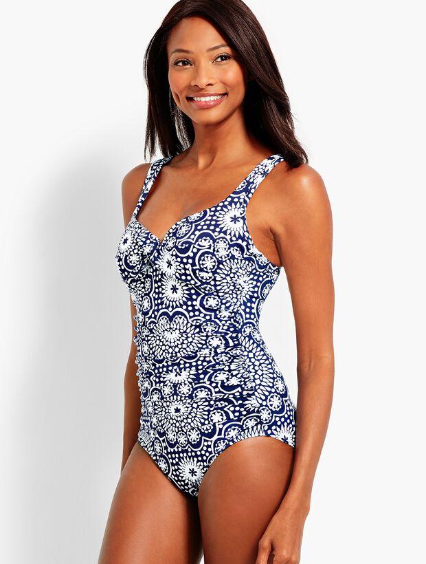 Dot Tile Marina One-Piece Swim Suit