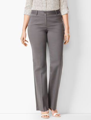 Cotton Double-Weave Barely Boot Pants - Curvy Fit