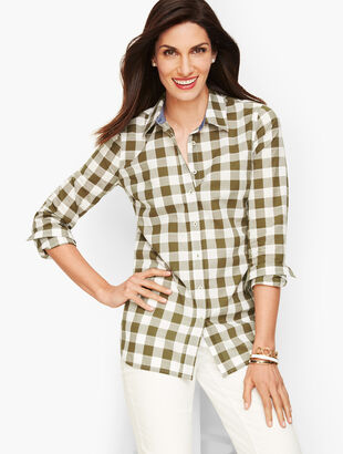 Classic Cotton Shirt - Bayleaf Gingham