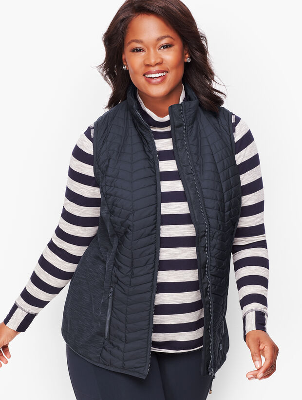 Chevron Quilted Vest