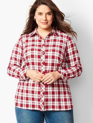 Classic Cotton Shirt - Shimmer Plaid
