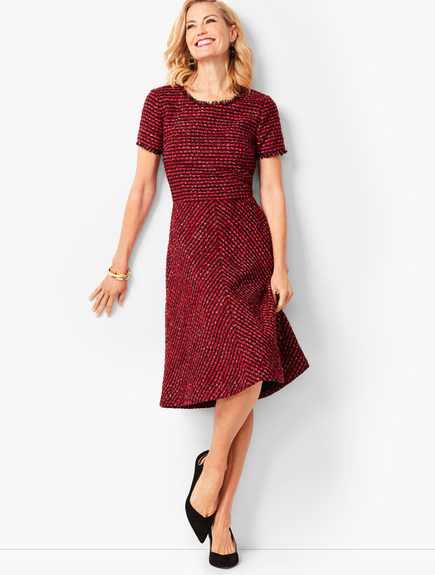 Tweed Fit & Flare Dress