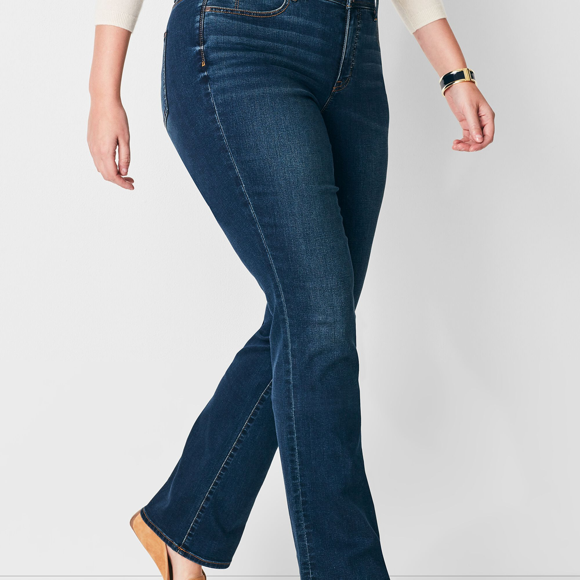 981ddee3679 Plus Size High-Waist Barely Boot Jeans - Pioneer Wash
