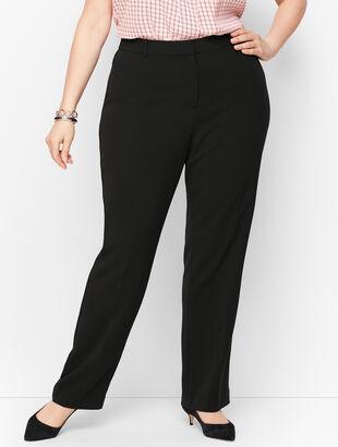 Easy Travel Straight-Leg Pants - Curvy Fit
