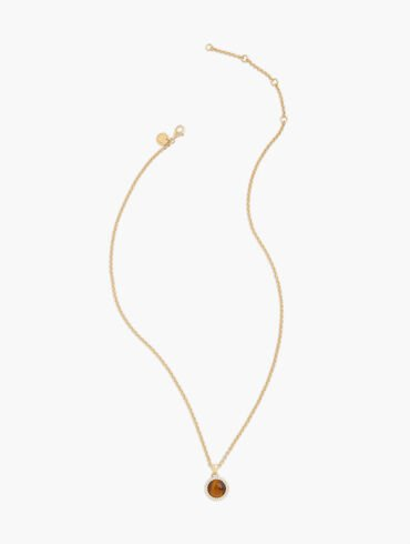 Gold-Plated Sterling Silver Semiprecious Sparkle Pendant