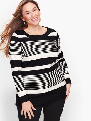 Long Sleeve Tunic - Holly Stripe