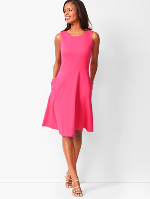Edie Knit Fit & Flare Dress - Solid