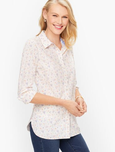 Classic Cotton Shirt - Ditsy Floral