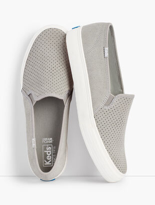 Keds(R) Double Decker Perf Suede Slip-On Sneakers