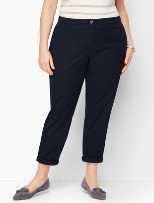 Plus Size Girlfriend Chinos - Solid - Curvy Fit