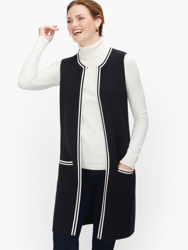 Tipped Sweater Vest