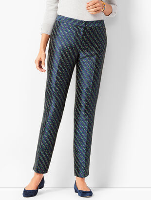 Jacquard Tailored Ankle Pants