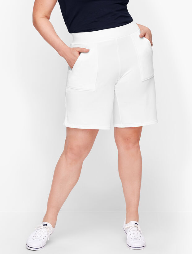 Wrap Side Hem Terry Shorts