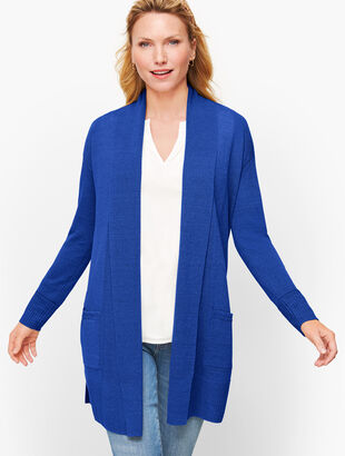 Shawl Collar Open Sweater