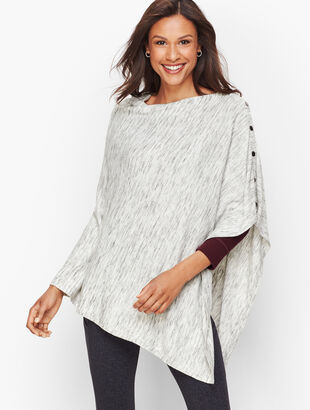 Space Dye Asymmetric Poncho