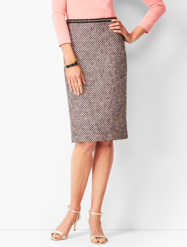 Ombre Tweed Pencil Skirt