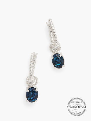Swarovski® Hoop & Crystal Earrings