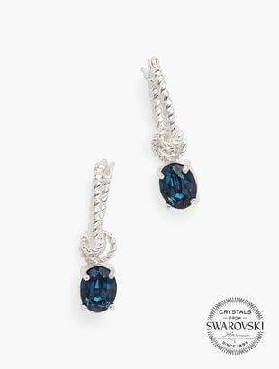 Swarovski® Hoop & Crystal Earrings