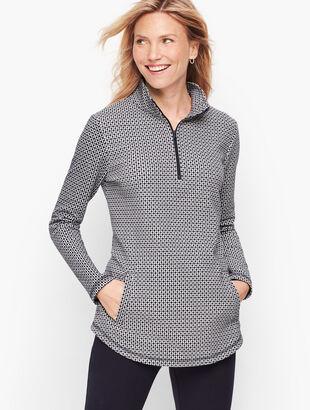 Geo Half Zip Pullover