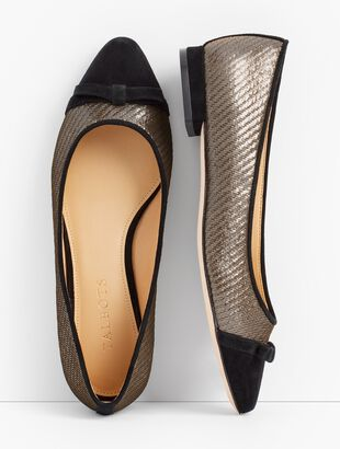 Edison Bow-Detail Flats - Lurex®