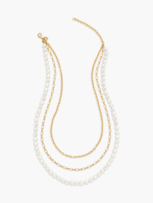 Baroque Pearl Layer Necklace