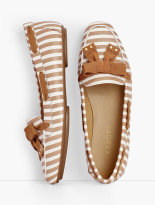 Becca Ribbon Driving Moccasins - Stripe