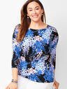 Classic Bateau-Neck Sweater - Floral