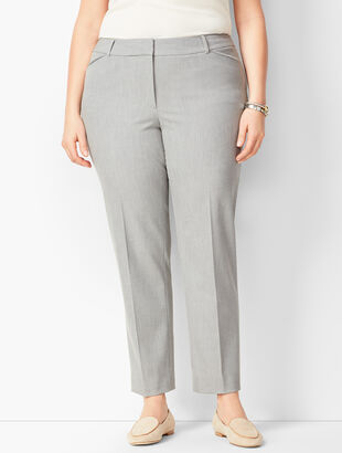 Talbots Hampshire Ankle Pants -  Diamond Grey Chambray
