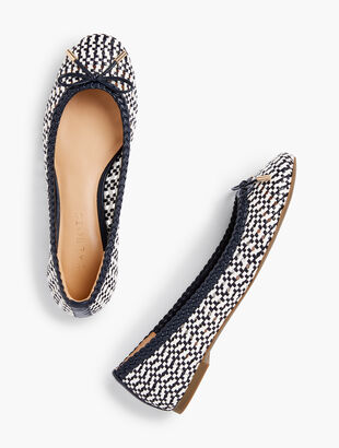 Olympia Open-Weave Ballet Flats - Bi-Color