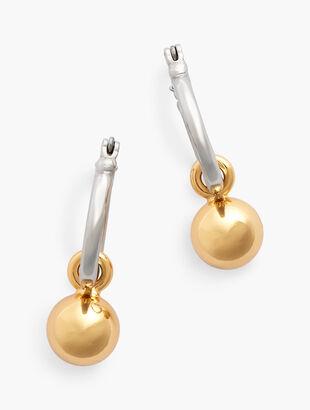 Two-In-One Charm Hoop Earrings