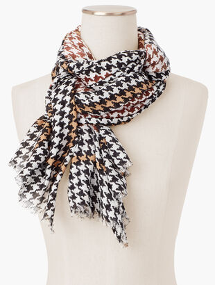 Blocked Houndstooth Scarf