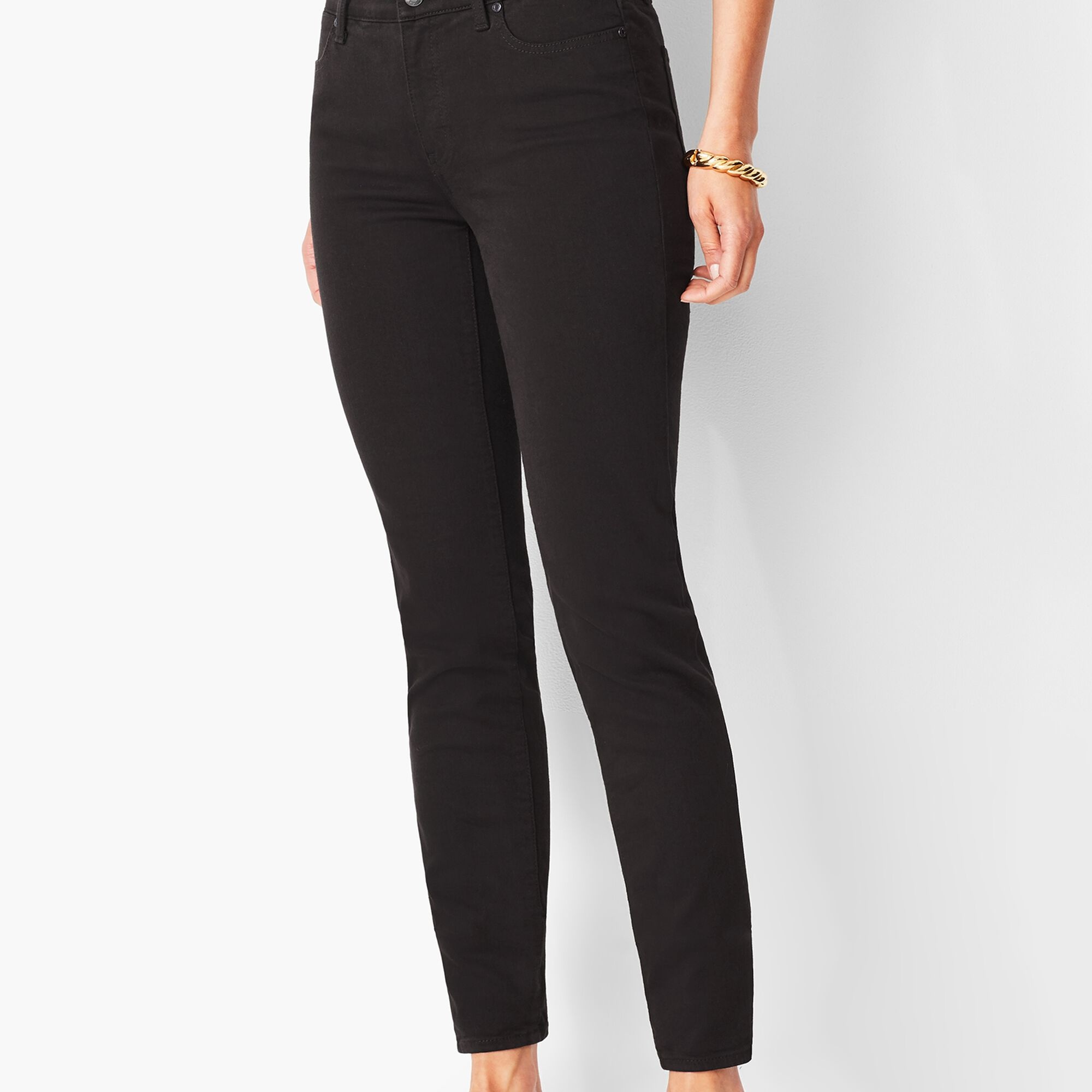 817c8d2082ce Slim Ankle Jeans - Never Fade Black | Talbots