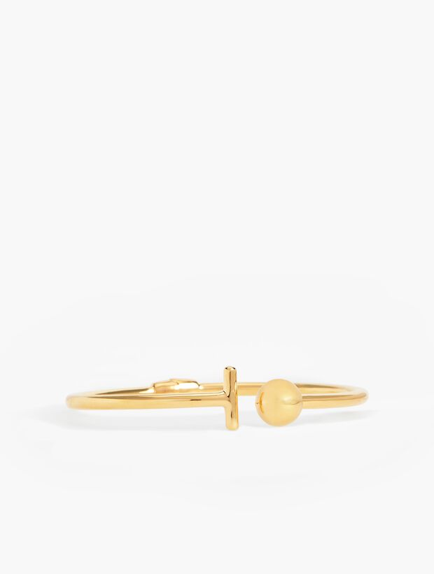 Ball Bangle-14K Gold-Plated Sterling Silver