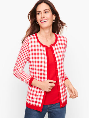Charming Cardigan - Mixed Gingham