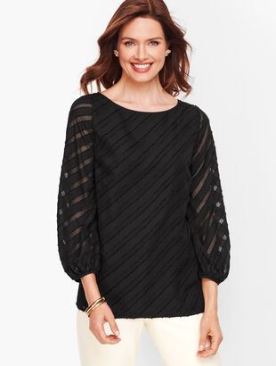 Poet Sleeve Top - Textured