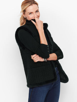 Cableknit Sweater Vest - Lurex®
