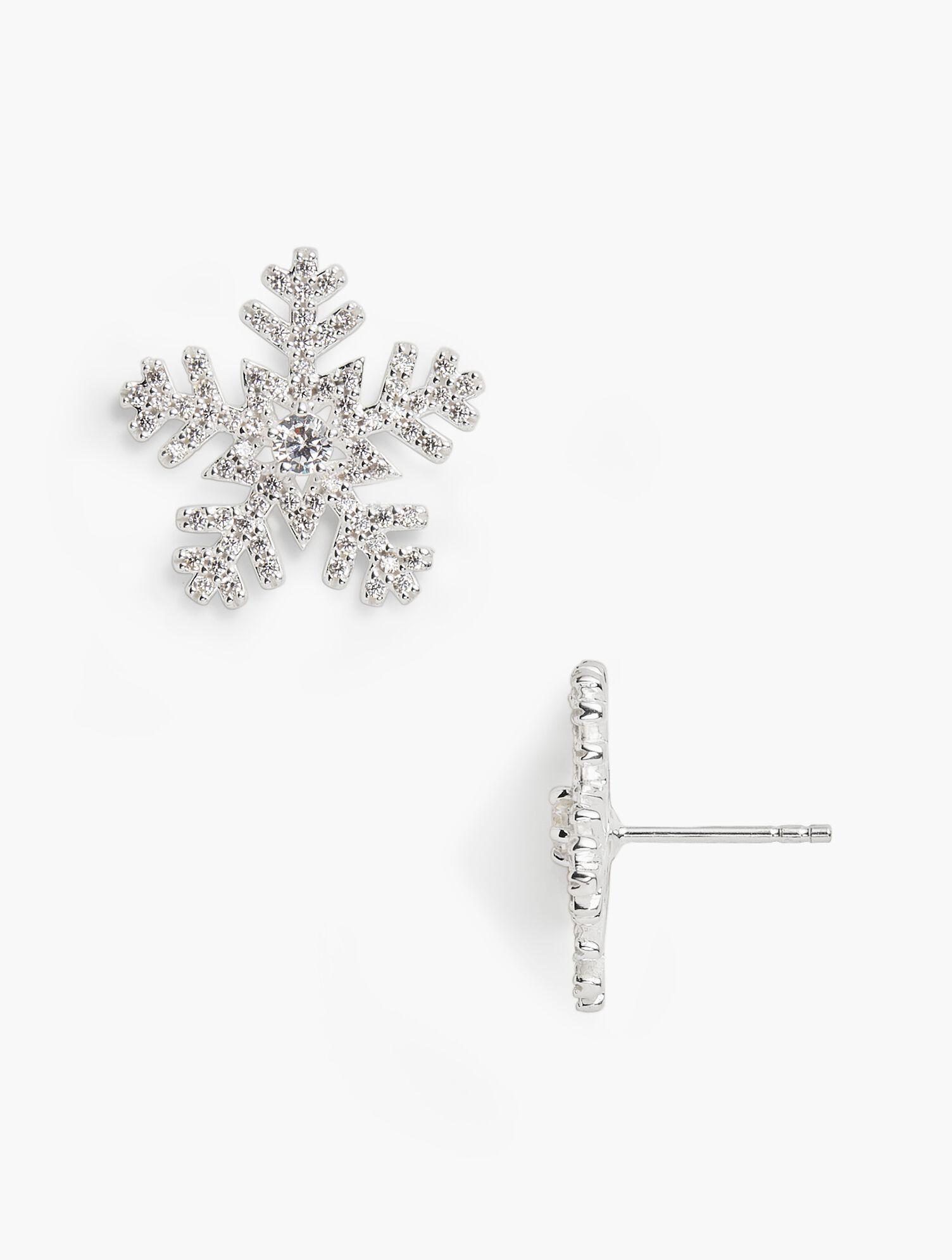 Snow flake silver earrings