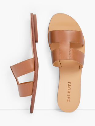 Hannah Vachetta Leather Slides
