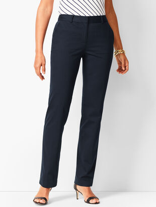 Monterey Cotton Straight-Leg Pants