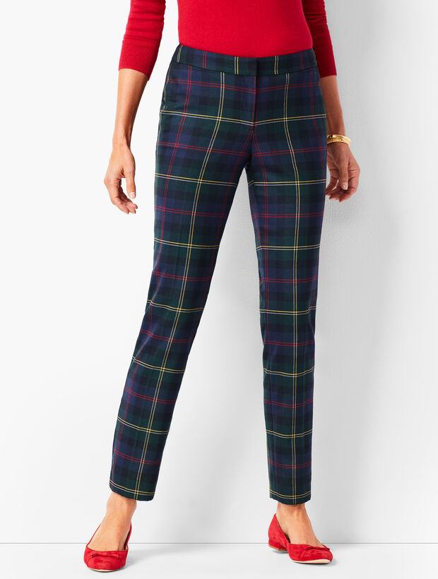 Plaid Talbots Hampshire Ankle Pants