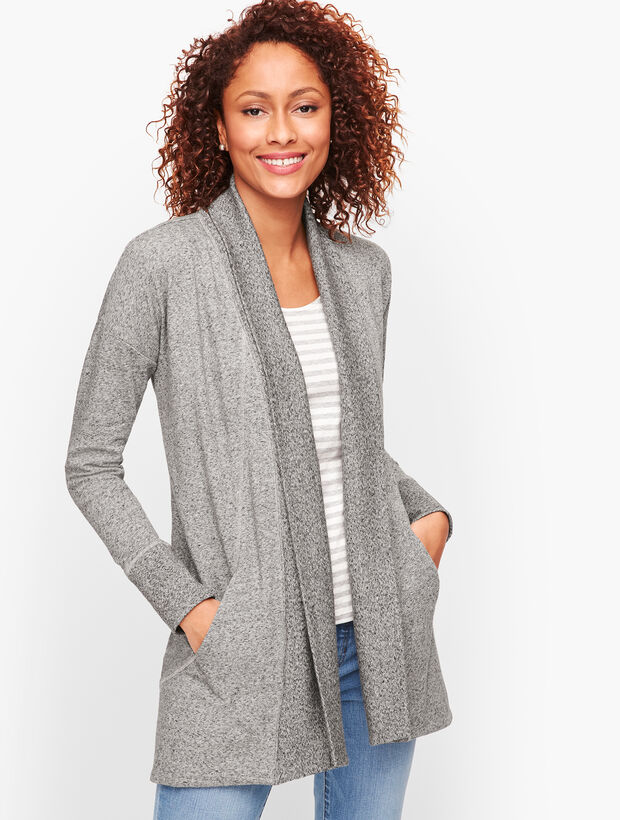 Terry Open Cardigan
