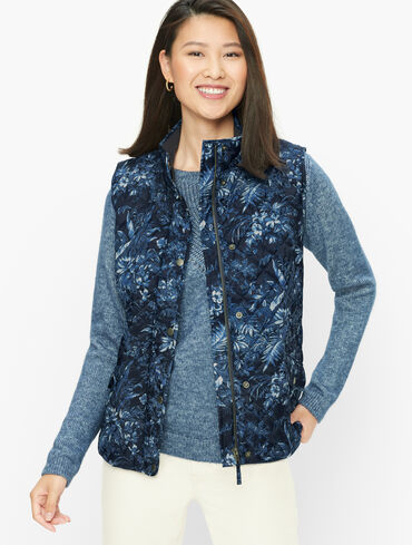 Diamond Quilted Vest - Fall Toile