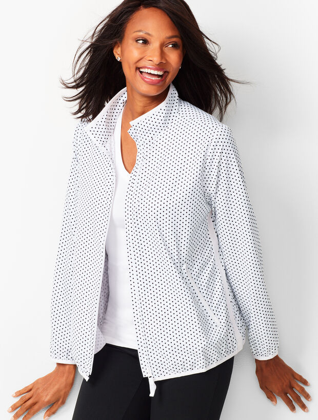 Lightweight Stretch Dot Woven Jacket