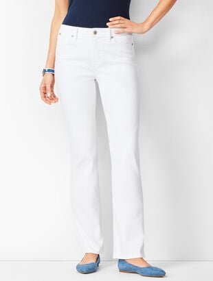High-Waist Denim Barely Boot Jeans -  White